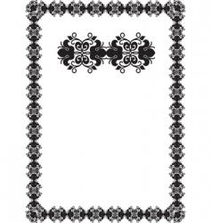 Black frame vector