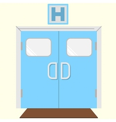 Flat color icon for hospital entrance vector