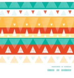 Vibrant ikat stripes horizontal frame vector