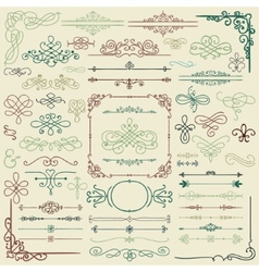 Hand drawn design elements vector