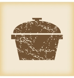 Grungy pan icon vector