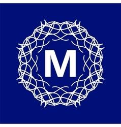 Monogram m vector