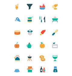Food and drinks colored icons 12 vector