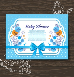 Sweet baby shower invitation vector