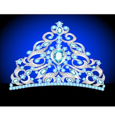 Tiara crown womens wedding vector