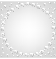 Pearl frame on gray background vector
