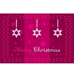 Christmas stars on a dark pink background vector