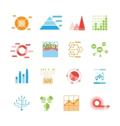 Graphs and charts icons or infographic elements vector