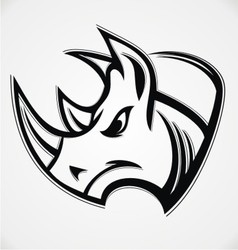 Rhino head vector