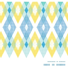 Colorful fabric ikat diamond horizontal vector