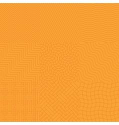 Seamless abstract orange pattern vector