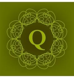 Monogram q design vector
