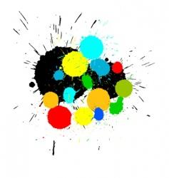 Paint splashes background vector