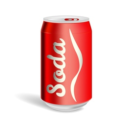 Aluminium soda can isolated vector
