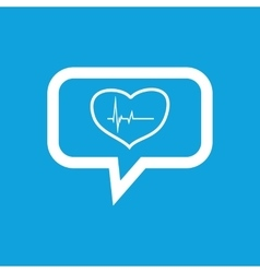 Cardiology message icon vector