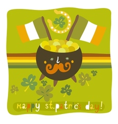 Stpatricks day colorful background vector