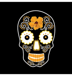 Skull with ornament vector