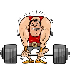 Weightlifting sportsman cartoon vector