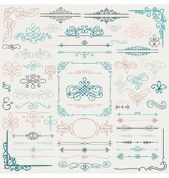 Hand drawn design elements vector