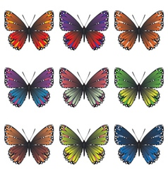 Butterflies set2 vector