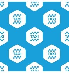 Taxi hexagon pattern vector