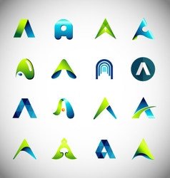 Icon design based on letter a vector