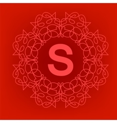 Simple monogram s design vector