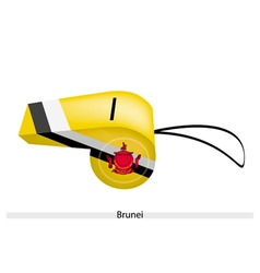 Yellow black and white colors of brunei whistle vector