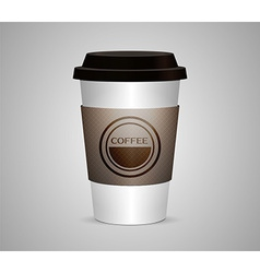 Disposable coffee cup isolated vector