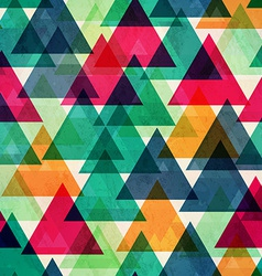 Vintage bright color triangle seamless texture vector