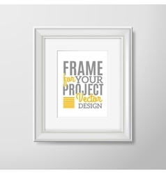Wall photo frame square icon vector