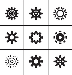 Gears and cogwheel icons set vector