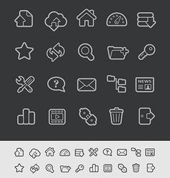 Hosting icons vector