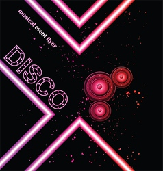 Disco club flyer vector