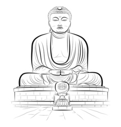 Buddha monument vector