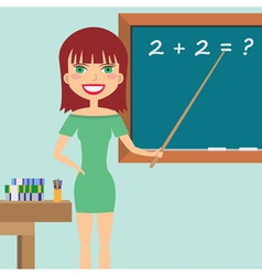 Teacher in the classroom vector