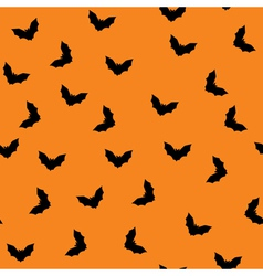 Seamless bat pattern vector
