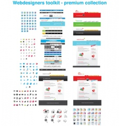 Premium web collection vector