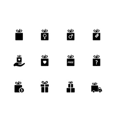 Present box icons on white background vector