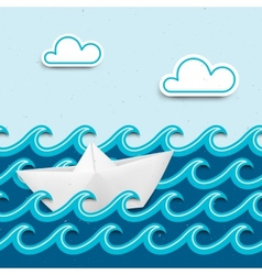 Nautical cartoon scenery vector