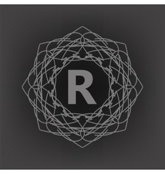 Monogram r vector