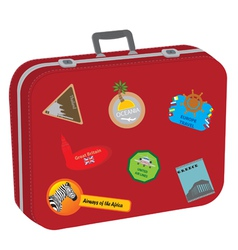 Suitcase baggage vector