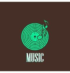 Vintage with vinyl disc icon vector