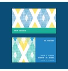 Colorful fabric ikat diamond horizontal vector