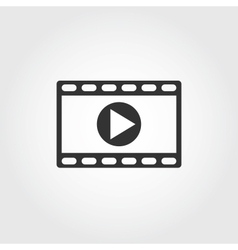 Video icon flat design vector