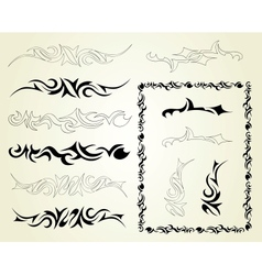 Set ornaments tattoo vector