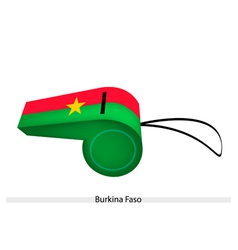 Red and green stripe on burkina faso whistle vector