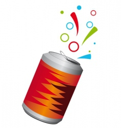 Aluminum can vector