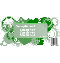 Sample text frame vector