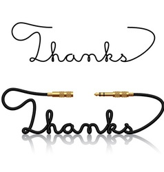 Jack connectors thanks calligraphy vector